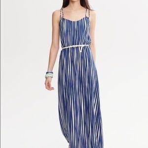 Banana Republic Blue White Maxi Dress Size 2
